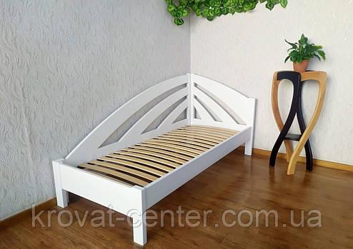 """Белая подростковая детская кровать 90х200 из массива дерева """"Радуга"""" (левая), фото 2"""