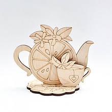 Фигурка для декора Чайная тематика из фанеры на подставке  Идейка