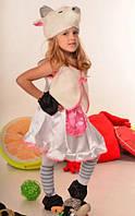 Дитячий карнавальний костюм Кізка БІЛА для дівчаток 4-7 років Костюм для дітей Коза