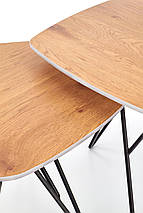 Журнальный столик комплект ZERO Halmar 75x75 / 56x56, фото 2