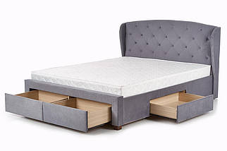 Кровать SABRINA Halmar 160x200 Серый, фото 2