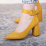 Туфли женские Fashion Caboose 2615 40 размер 25,5 см Желтый, фото 5