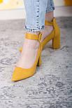 Туфли женские Fashion Caboose 2615 40 размер 25,5 см Желтый, фото 7