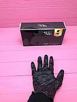 Перчатки нитриловые чёрные, 100 шт.