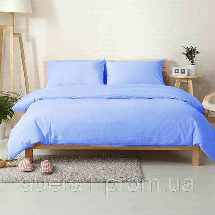 Ткань для постельного белья ранфорс 212373V голубой 240м однотонная 130 плтн Napolyon Турция