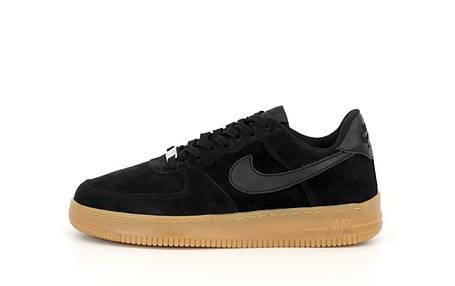 Чоловічі кросівки Nike Air Force 1 Low White/Black/Red, фото 2