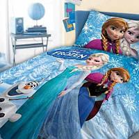 Ткань для постельного белья детского ранфорс 20071999/6 синий 240м 130 плтн  Холодное сердце Sabaev Турция