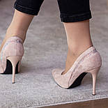 Туфлі жіночі Fashion Guinness 2471 36 розмір, 23,5 см Бежевий, фото 4