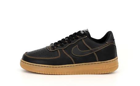 Мужские кроссовки Air Force 1 Low Black/Gum, фото 2