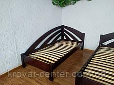 """Односпальне ліжко з масиву дерева кутова """"Веселка"""""""