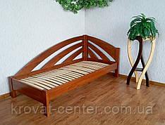 """Угловая детская кровать 90х200 из массива дерева от производителя """"Радуга"""" (левая)"""