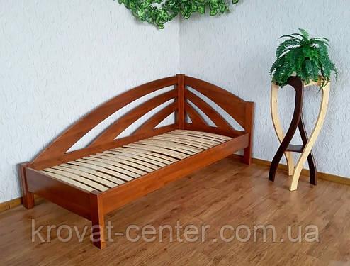 """Угловая детская кровать 90х200 из массива дерева от производителя """"Радуга"""" (левая), фото 2"""