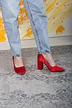 Туфли женские Fashion Kaaisa 2619 36 размер 23,5 см Красный, фото 9