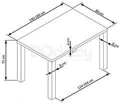 Стіл розкладний RONALD Halmar 140х80, фото 2
