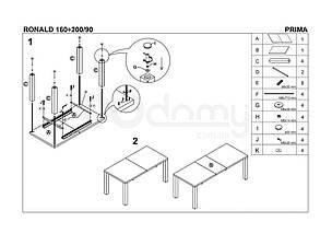 Стіл розкладний RONALD Halmar 140х80, фото 3