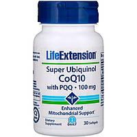 Супер убихинол - коэнзим Q10 с BioPQQ, Life Extension, 100 мг, 30 желатиновых капсул, скидка