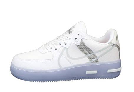 Мужские кроссовки Air Force 1 Low React White/Gray, фото 2