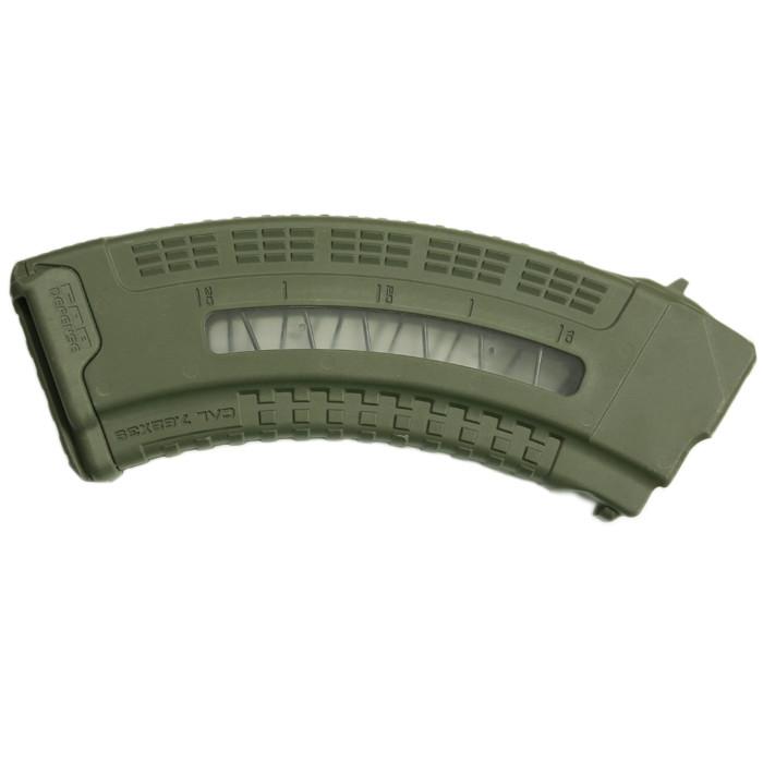 Магазин на 30 набоїв 7,62х39 FAB Defense Ultimag AK 30R Olive з вікном. Колір - оливковий 12320