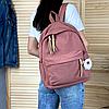 Однотонный рюкзак с брелком, фото 4