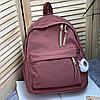 Однотонный рюкзак с брелком, фото 7