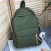 Однотонный рюкзак с брелком, фото 5