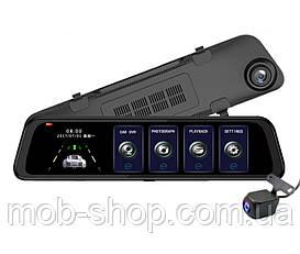 """Автомобильный регистратор-зеркало DVR L203 Full HD 12"""" сенсорный экран + камера заднего вида"""