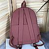 Однотонный рюкзак с брелком, фото 10