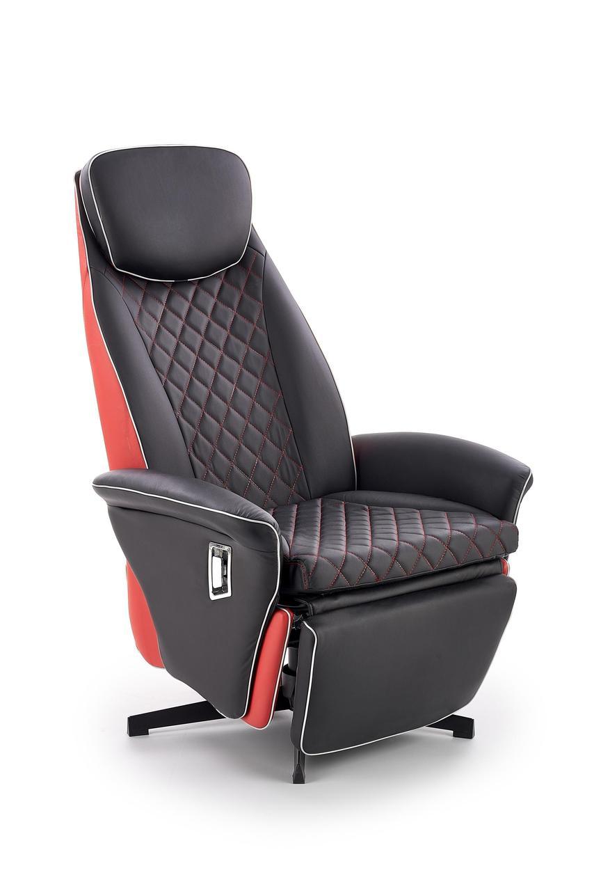 Кресло раскладное CAMARO Halmar Черный / Красный