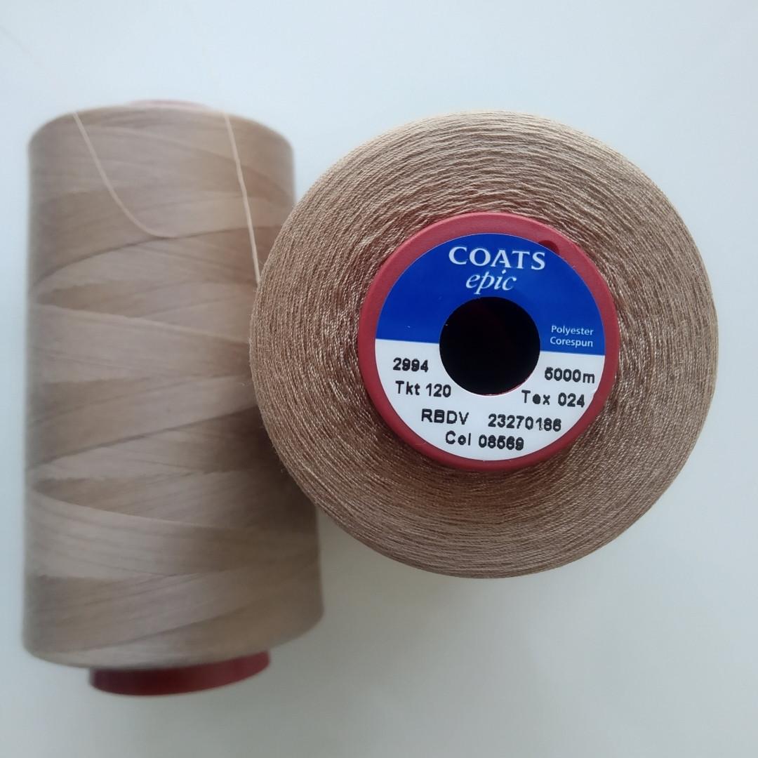 Нитки Coats Epic 08569/ 120, 5000м.