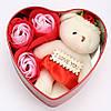 Подарункова шкатулочка з трояндою з мила (3 трояндочки) + Подарунок Кулон I Love you, фото 3
