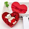 Подарункова шкатулочка з трояндою з мила (3 трояндочки) + Подарунок Кулон I Love you, фото 6