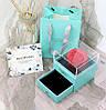 Подарочный набор мыла из роз  Flower with glass box + Подарок Кулон I Love you, фото 9
