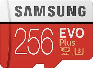 Карта памяти Samsung EVO Plus microSDXC 256GB UHS-I Class 10 + SD-адаптер (MB-MC256HA/RU)