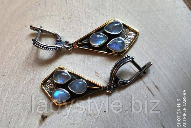 купити сережки з танзанитами прикраси танзаніт леді стиль