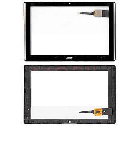 Сенсор (Тачскрин) для планшета Acer B3-A40 Iconia One 10 (Черный) Оригинал Китай