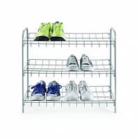 Полиця для взуття 3-х рівнева 64*23*59см SHOE3 Metaltex, сріблястий (938008)