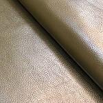 Натуральная галантерейная кожа  ФЛЕШ,  зеленая,  Pantone 19-0511