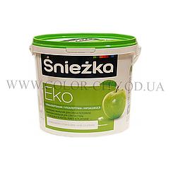 Снежно-белая краска для стен и потолка Sniezka Eko 14кг (Снежка Эко)