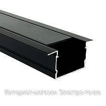 Профиль алюминиевый BIOM врезной 20х30 анодированый, черный, палка 2м LPV-20AB