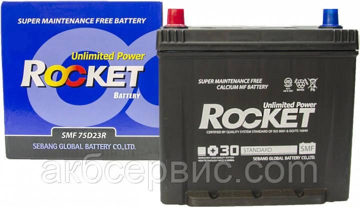 Акумулятор автомобільний Rocket 6СТ-65 Аз Asia (75D23R)