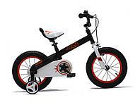 """Детский велосипед Royal Baby Honey 18"""" черно-оранжевый"""