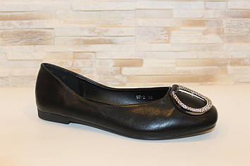 Балетки туфлі жіночі чорні Т1238