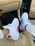Женские кроссовки Adidas Equipment basketball (white/red) Реплика ААА, фото 6