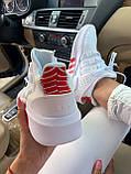 Женские кроссовки Adidas Equipment basketball (white/red) Реплика ААА, фото 2