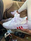 Женские кроссовки Adidas Equipment basketball (white/red) Реплика ААА, фото 4
