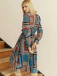 Шифоновое платье-миди с длинным рукавом, фото 2