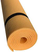 Коврик для спорта Verdani Джуниор XL однослойный 1800х600х5 мм Желтый