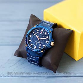 Оригінальні чоловічі наручні годинники сталевий ремінець Naviforce NF9152 All Blue Навифорс