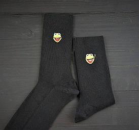 Носки Premium Жабка черные