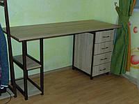 Письмовий стіл в стилі Лофт 800х1600х650, СП13